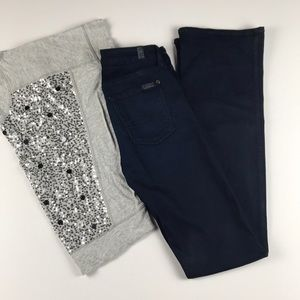 7 For All Mankind Dark Blue Kimmie Bootcut - 27/36